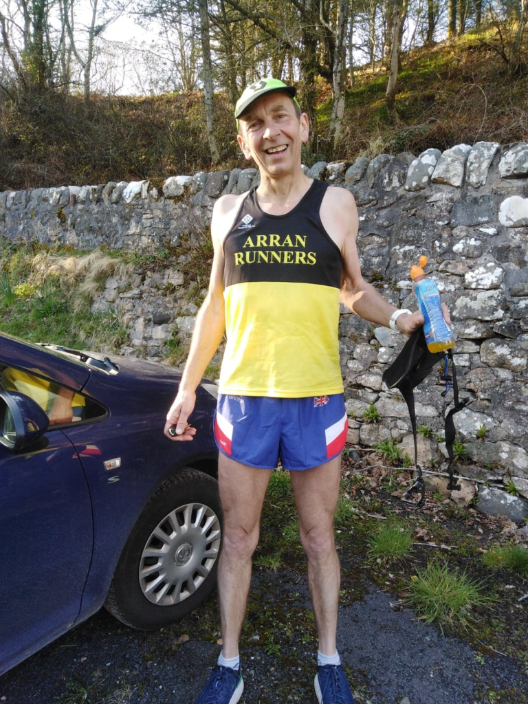 Dave ensured he had plenty of water for the run.
