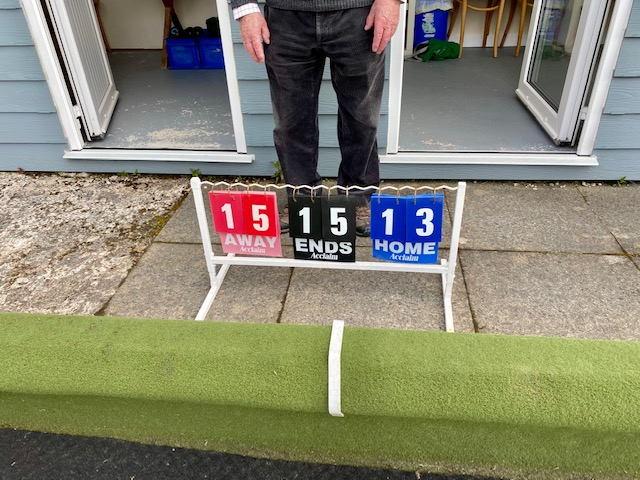 Despite an extended break the matches still produced competitive play as the scoring shows.