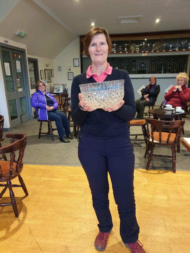 June Richardson, winner of the Josie Sanderson Trophy at Lamlash.