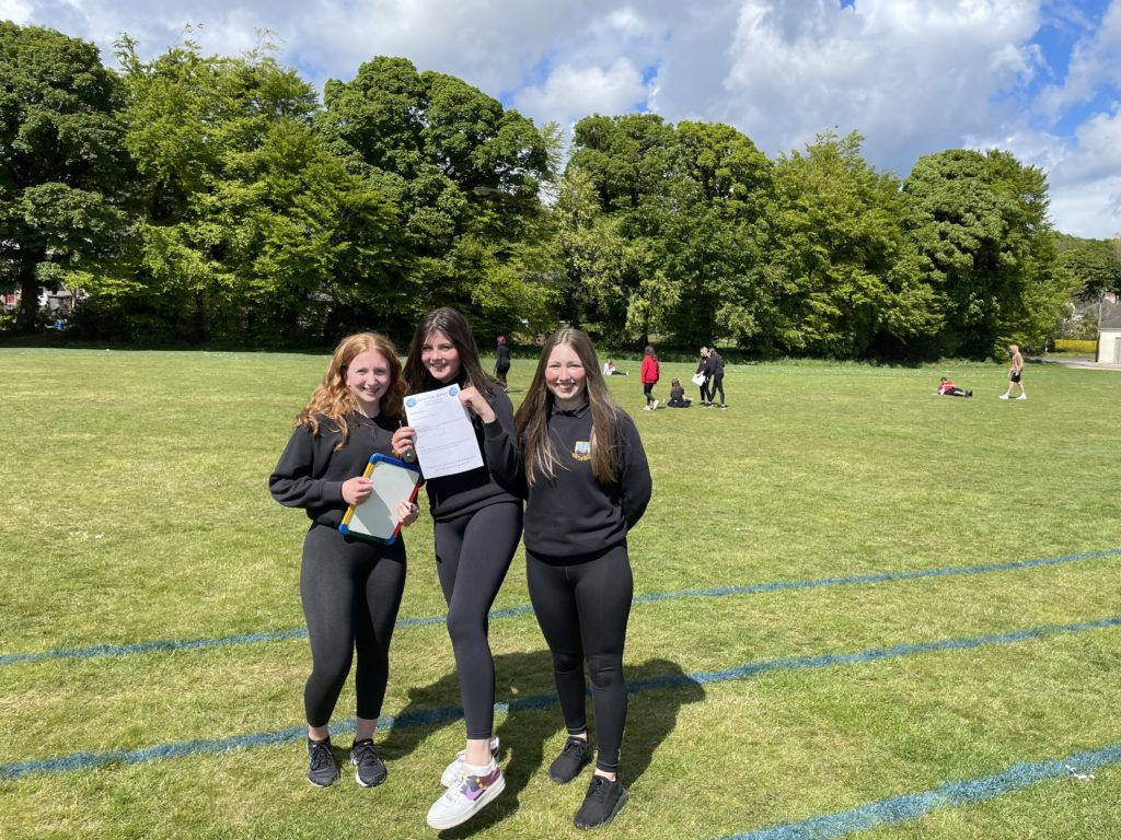 S3 winners, Beth McCarthy, Bella Reid and Lily Currie.