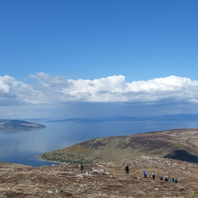 Sunday's Gaelic in the mountains walk. 'Mòran taing' to walk participant Davie Rutherford for the photograph.