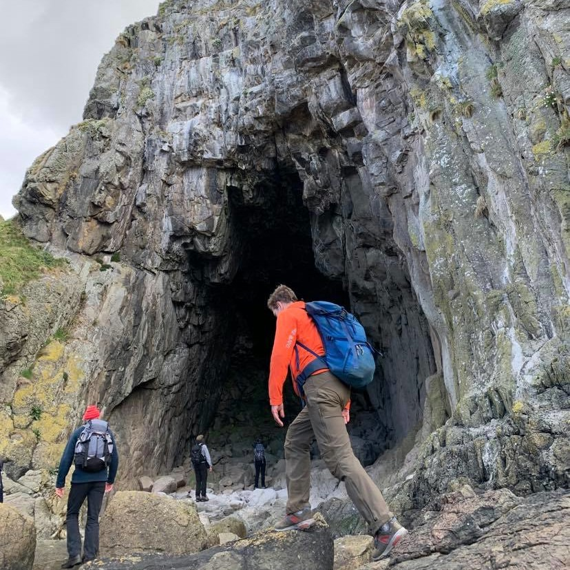 A walk to the black cave led by Jenny Stark of COAST and Lucy Wallace.
