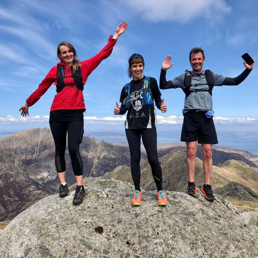 The mountain runners on the intermediate session had so much fun in the sun, they added an extra summit to their route. Photo leader Giles.