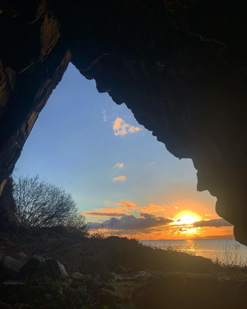 Preacher's Cave at Kilpatrick is one of 20 locations on the GeoTourist app. Photograph: Gemma McNicol.