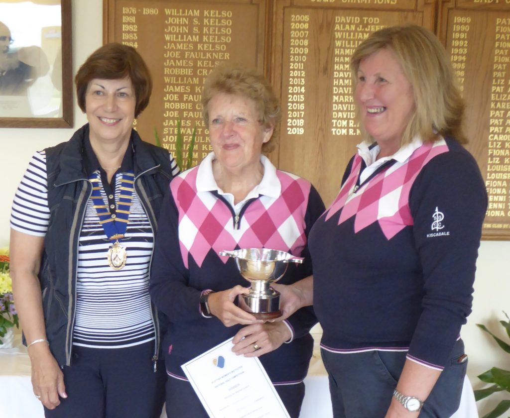 Runners-up of the SWI 18 Hole Competition, Fiona Scott and Piet Johnston who won the National Finals in 2019.