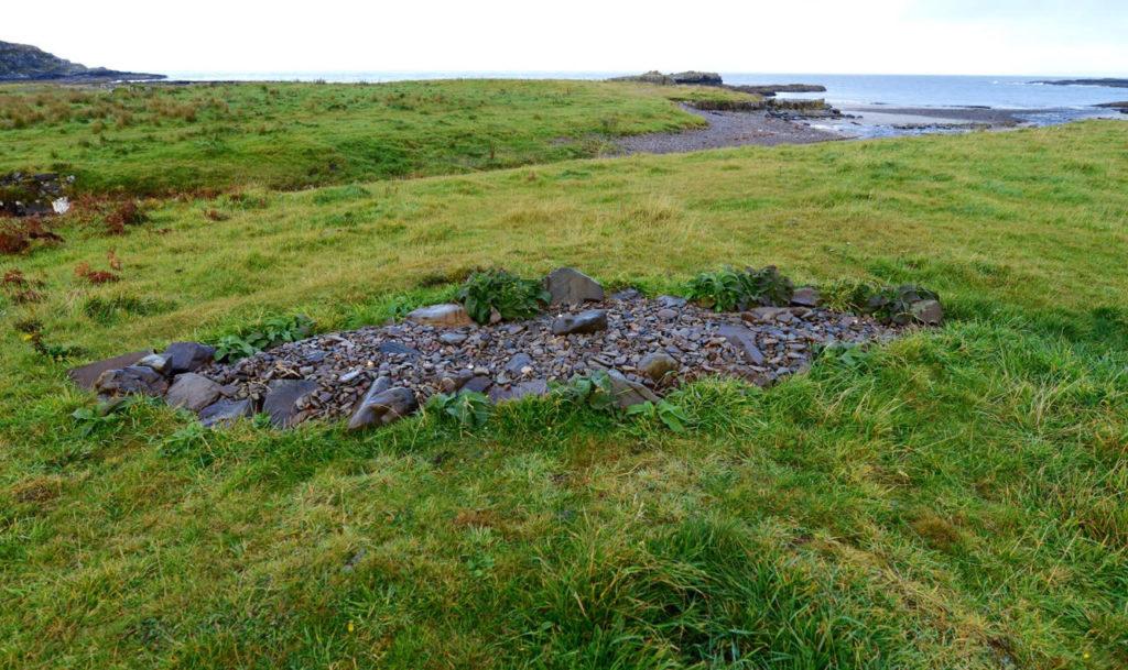 The Viking boat burial site at Swordle Bay,Ardnamurchan.