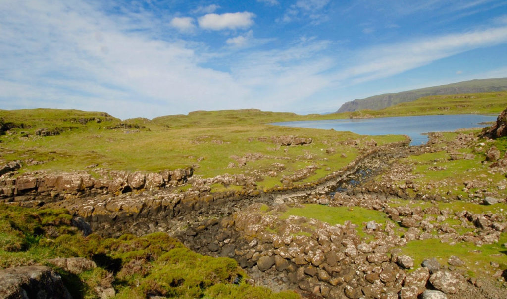 The 12th Century Norse boatyard in Skye where Vikings brought their boats for repair.