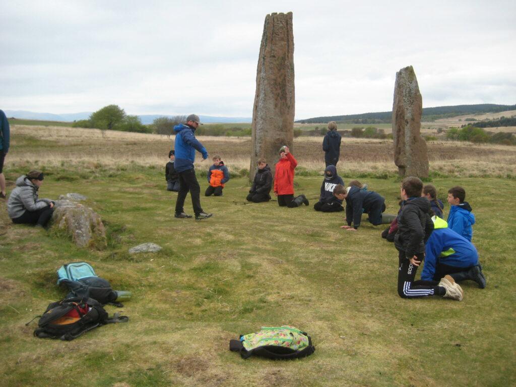 The children enjoyed visiting Machrie Moor standing stones.