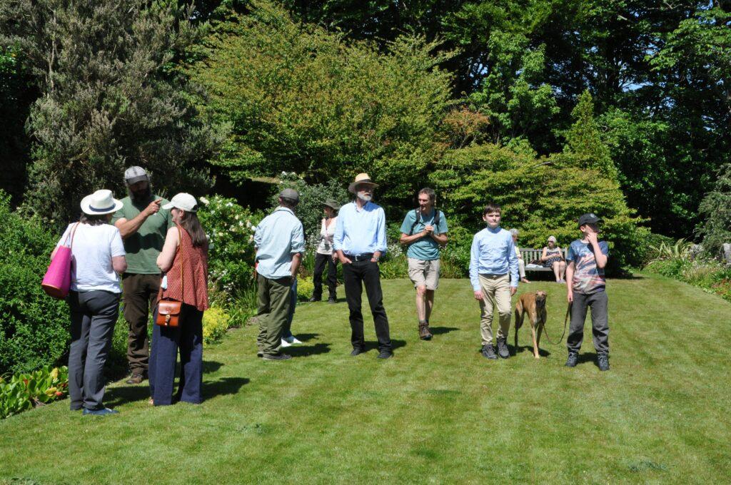 Visitors enjoy exploring the lush surroundings.