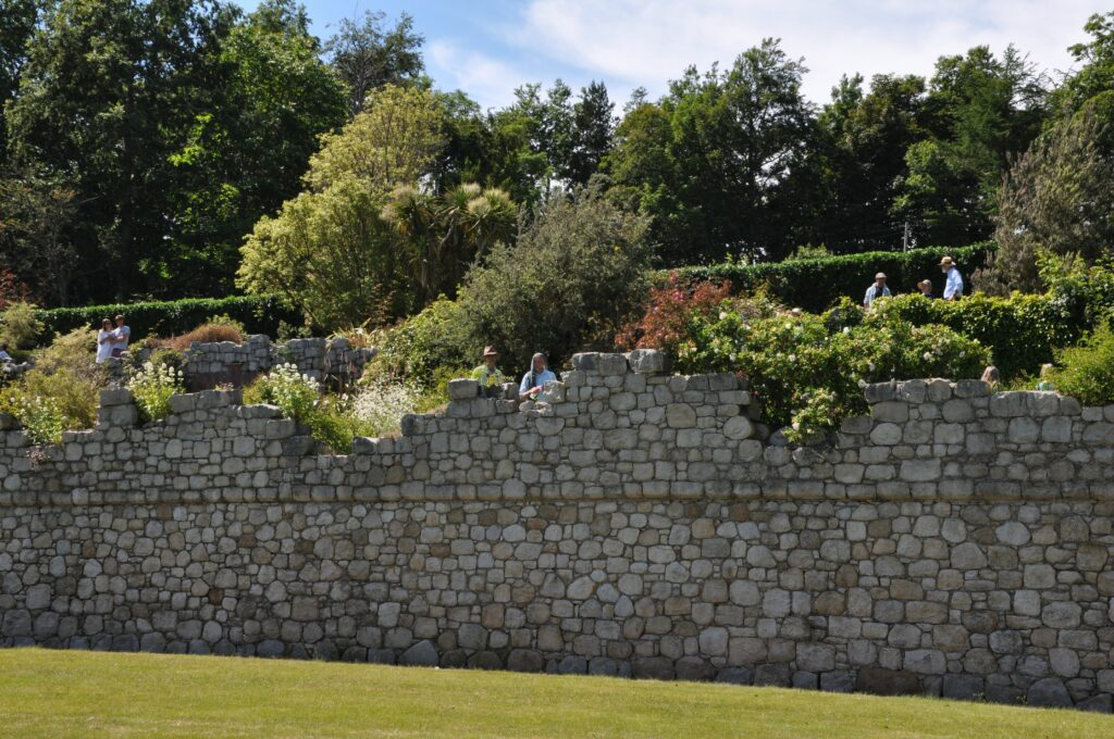 Each terrace of the garden provided visitors with new and varied plants and shrubs to discover.