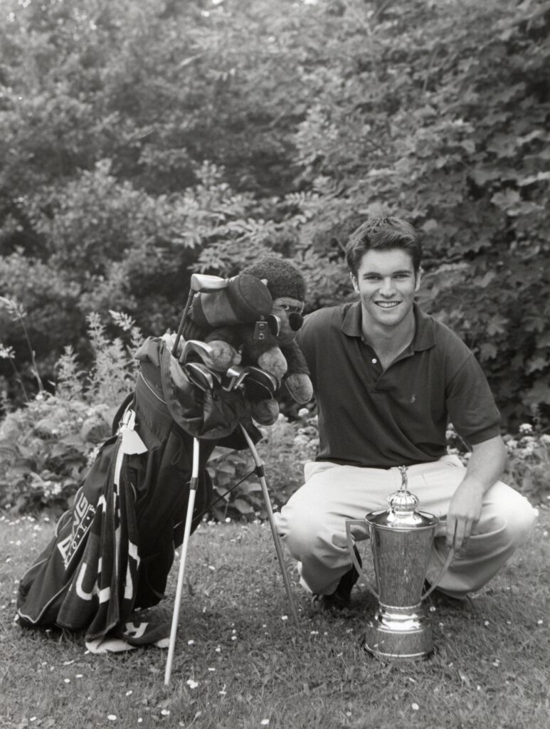 Keeping it in the family, Jamie Duncan takes on the mantle of Brodick Golf Club champion from brother Ross.