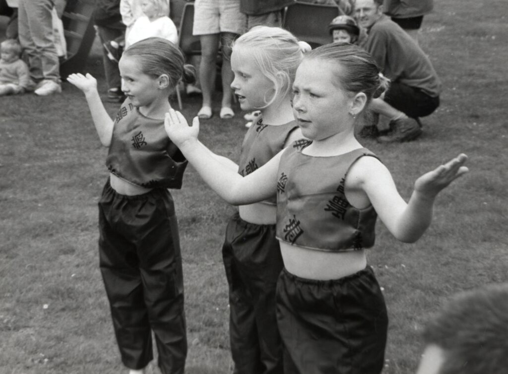 Some Arran Dancers perform for the crowd at the Lamlash Gala Week.