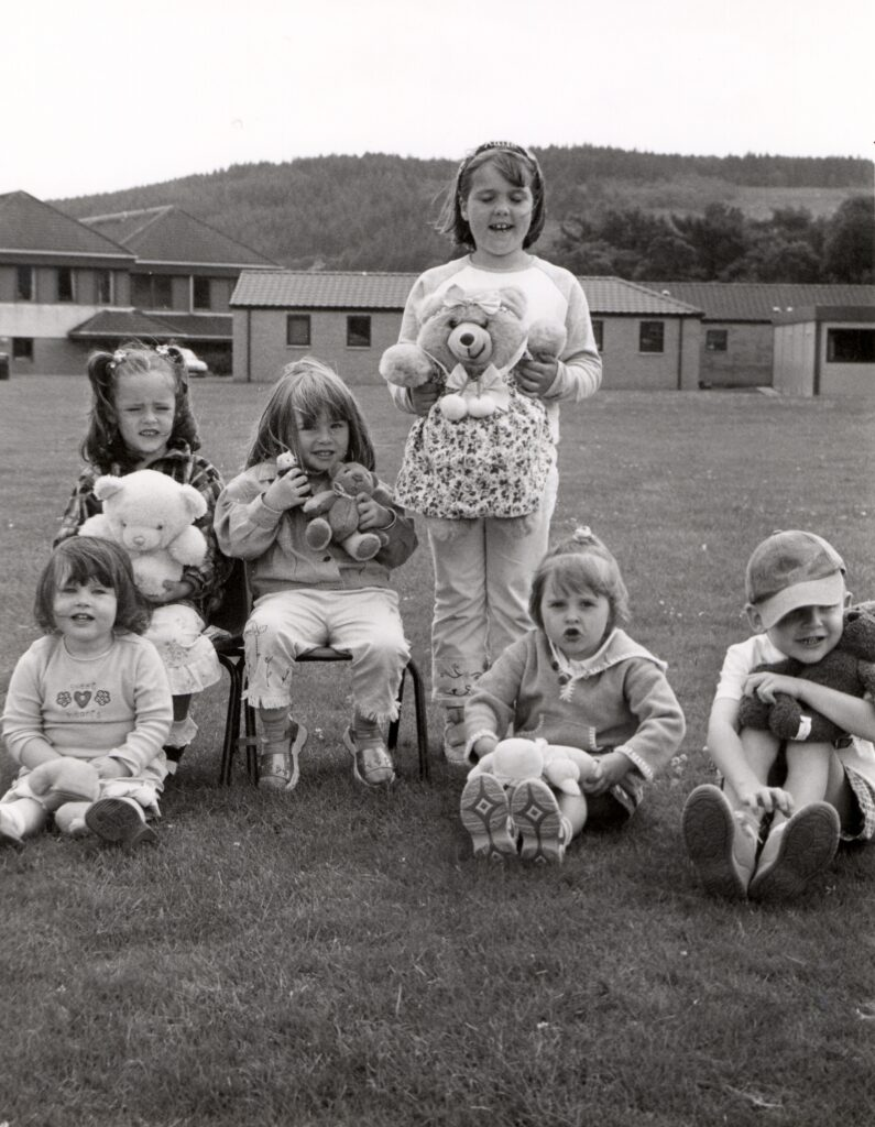 Tots and teddies at the teddy bears' picnic which took place in Lamlash as part of the gala week celebrations.