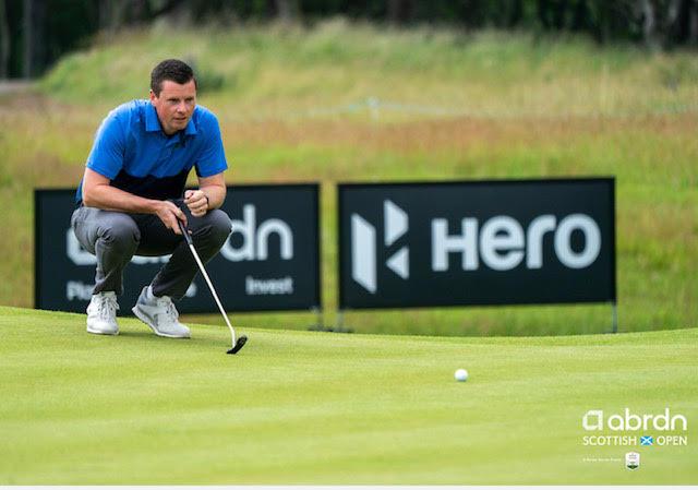 Brodick Golf Club Champion Ewan McKinnon at the abrdn Scottish Open pro-am.