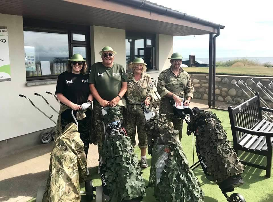 Winners of the best fancy dress at the Shiskine Texas Scramble: Dad's Army - Charles and Irene Currie, Irene and Billy Anderson.
