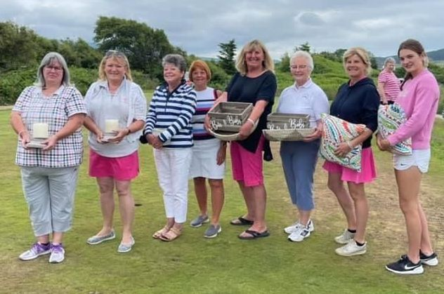 All the winners at the Machrie Ladies Open.
