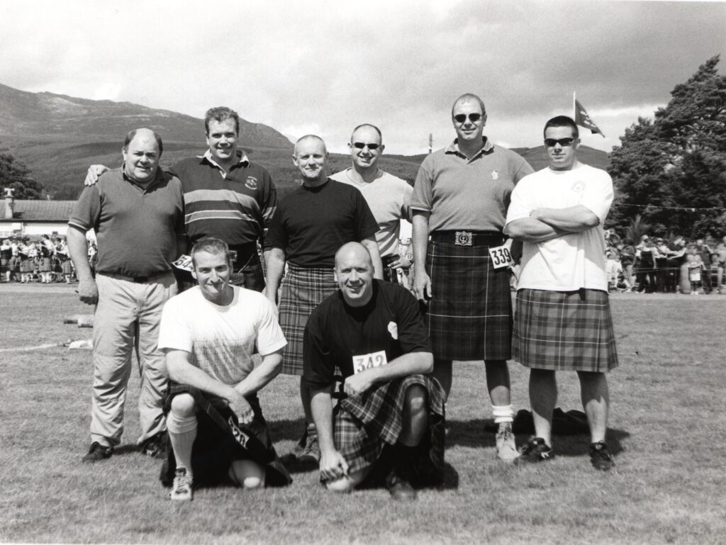 The heavy event entrants at this year's 114th Brodick Highland Games.