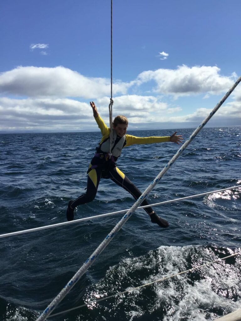 A highlight for many,  halyard flying.