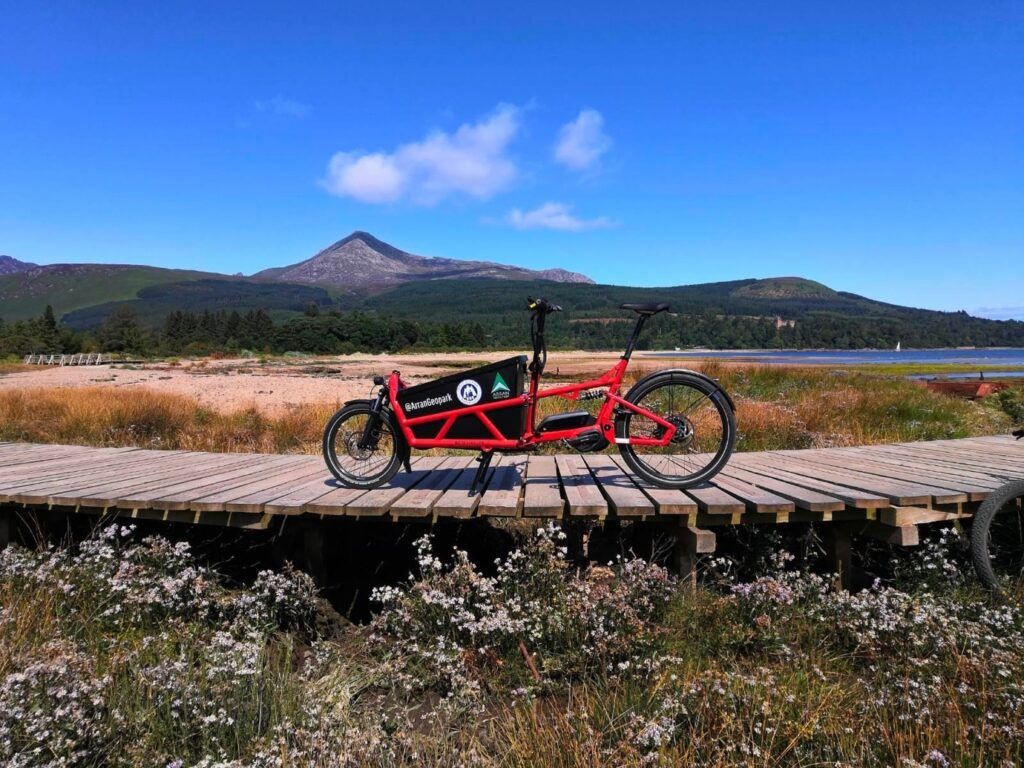 The access ranger position, along with this ebike, was made possible by NatureScot's GreenRecovery Fund.