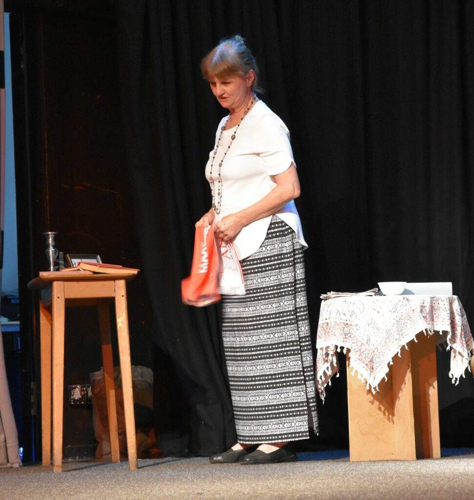 Sylvia reminisces in the first play.