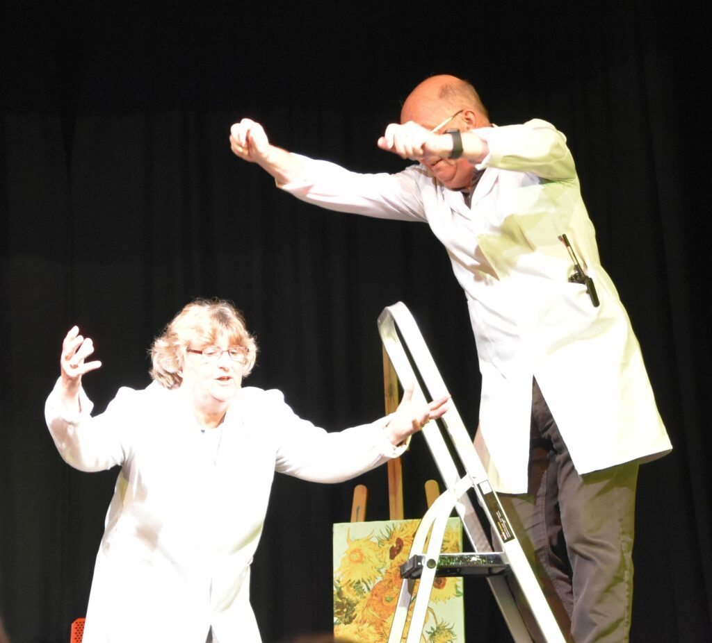 A cameo role for writers Jan and Chris Attkins at the end of the final play.