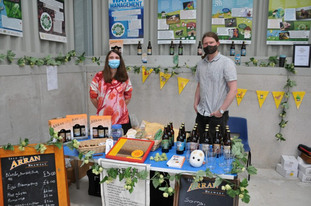 Veronica Michaluk and Chris Bowen from the Arran Brewery.