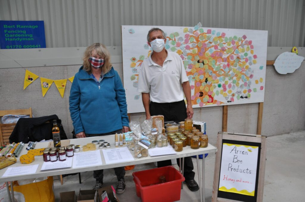 Andy and Leslie Walker of Arran Bee Products.