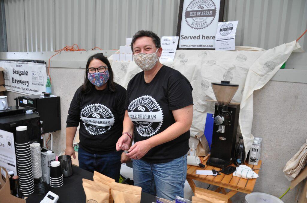 Sofia Pantazidou and Alix Hitching from the Arran Coffee Company.