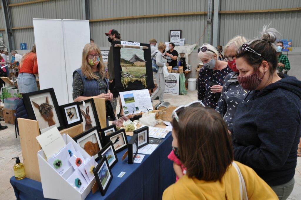Attracting a huge amount of interest was Lynn's Art on Arran which uses natural wool from Arran's farms.