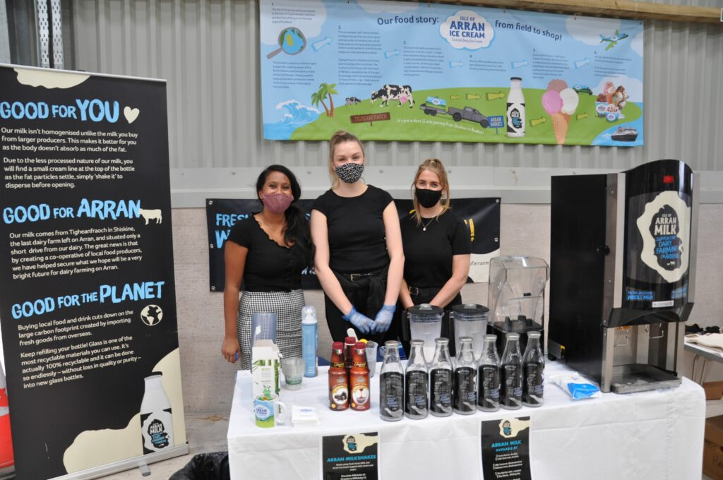 Michelle Te Ohaere, Hannah Dobson and Kirsty McQueen of Arran Milk / Ice Cream.