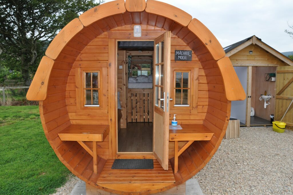 Visitors had the opportunity to have a look at the Balmichael glamping pods.