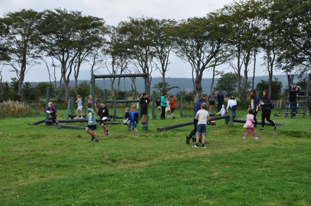 A children's paradise, youngsters make good use of the facilities on offer.