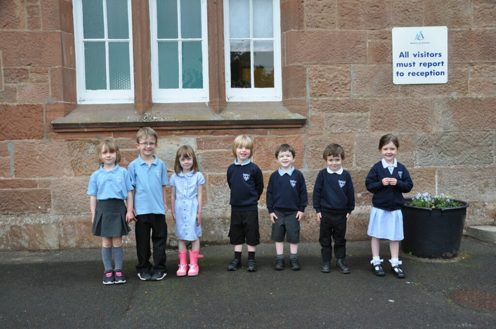 Brodick Primary welcomed nine P1s.