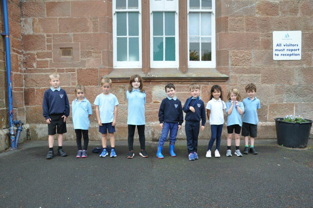 Brodick Primary's P2s.