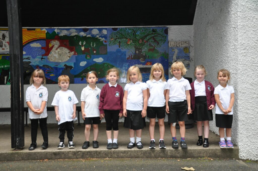A bumper crop of nine new P1s started at Whiting Bay Primary.