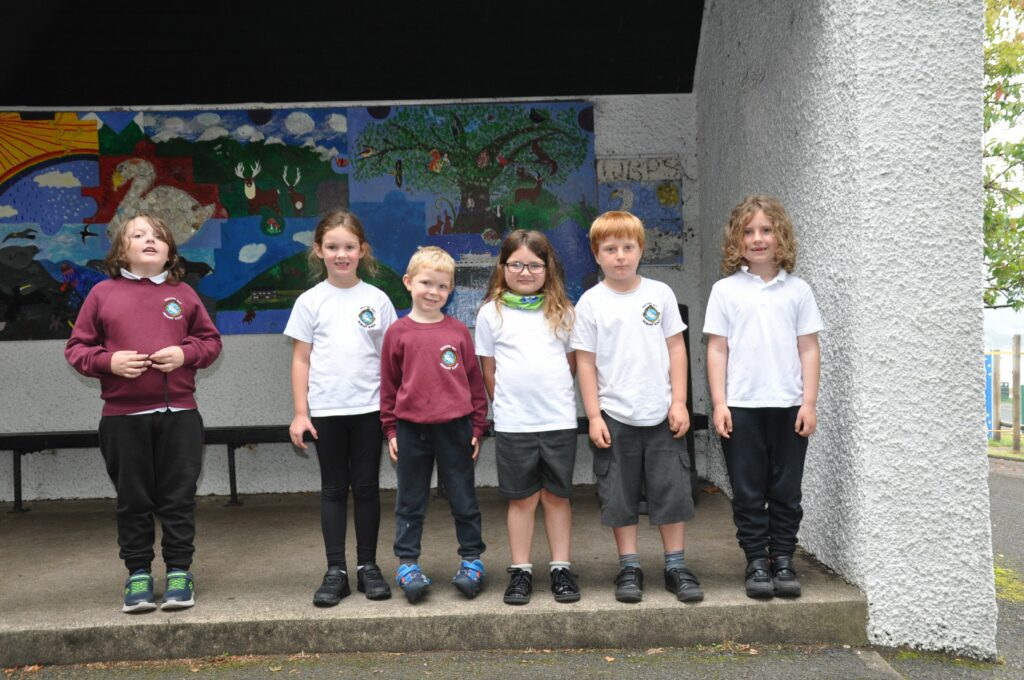Whiting Bay Primary' P2s.