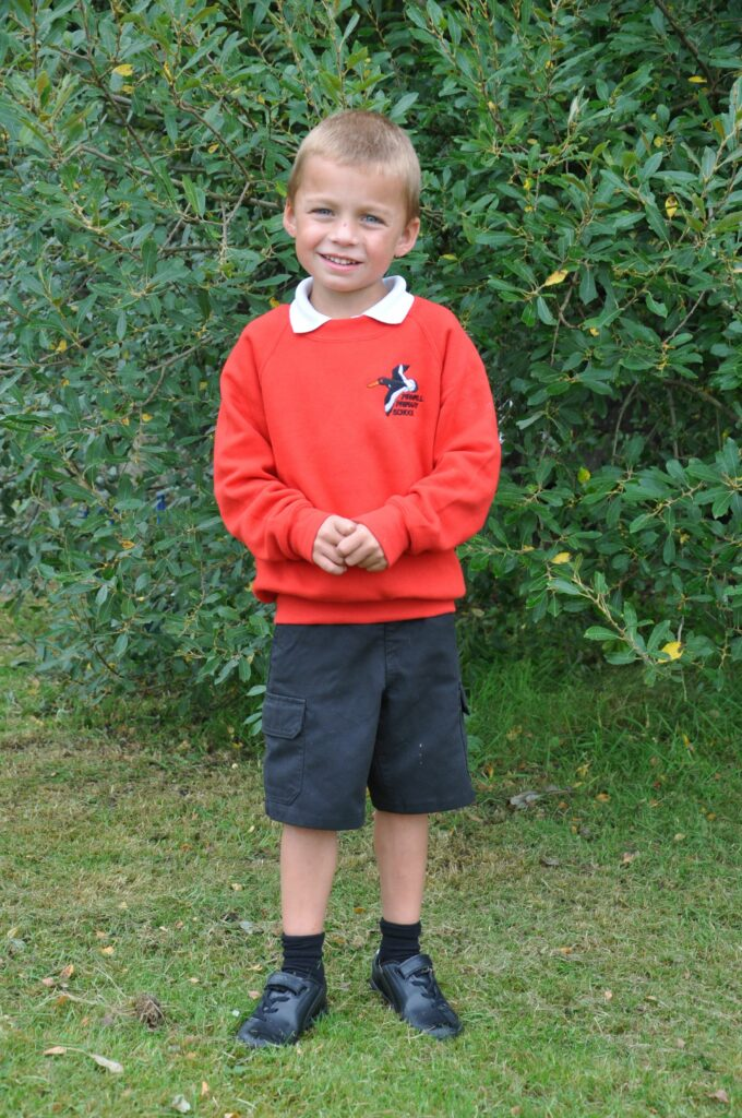 Pirnmill Primary's newest p1 pupil.