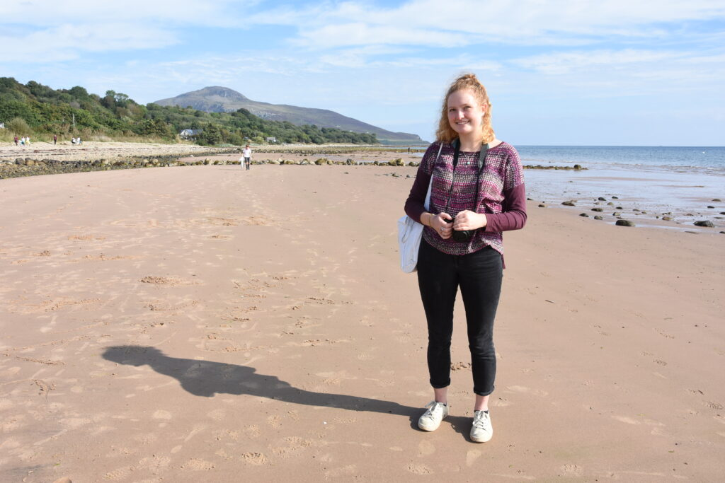 The project is being led Bethany Walsh who was back at her old school in Whiting Bay for the beach clean.