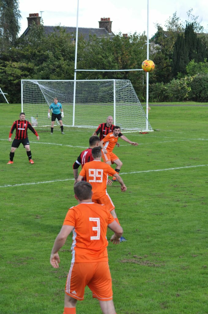 Four goal Archie McNicol on the attack.