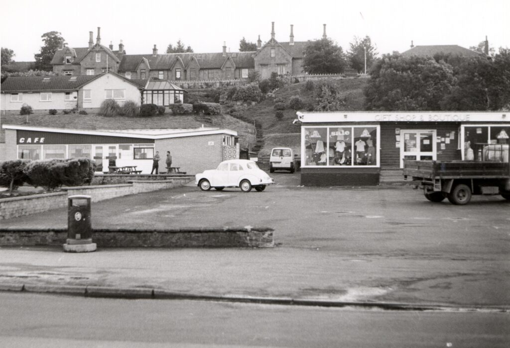 Before: The Mini Cafe, Gift Shop and Boutique on the Brodick front prior to demolition.