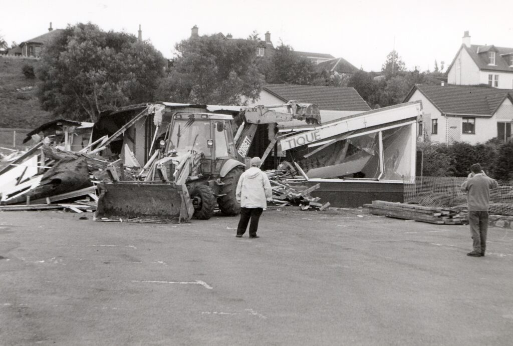 After: Standing since 1973, the Gift Shop and Boutique is torn down.