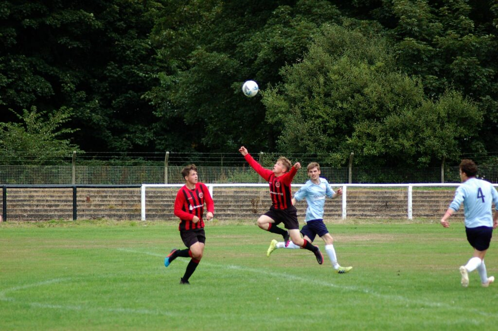 These great pictures capture Kieran's super overhead strike which finished in the back of the net.