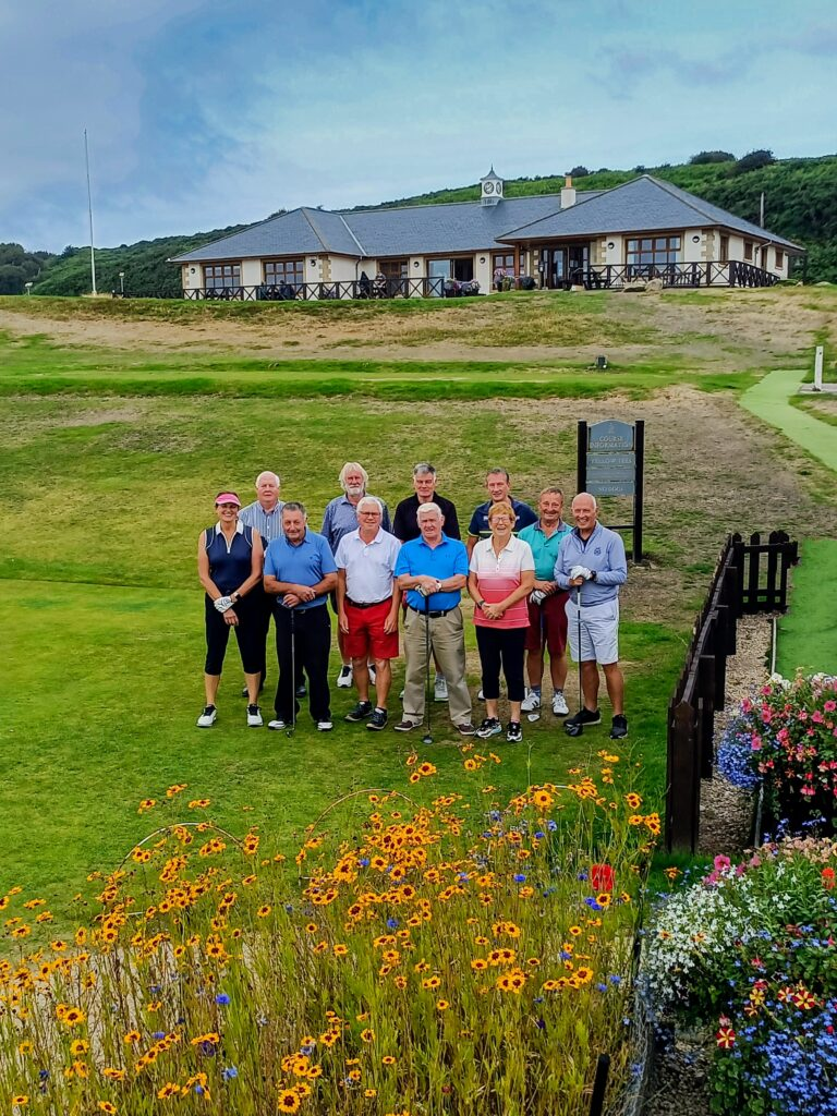 A total of 11 past captains of Shiskine Golf Club took part in a friendly game with Willie Kelso taking the top spot.