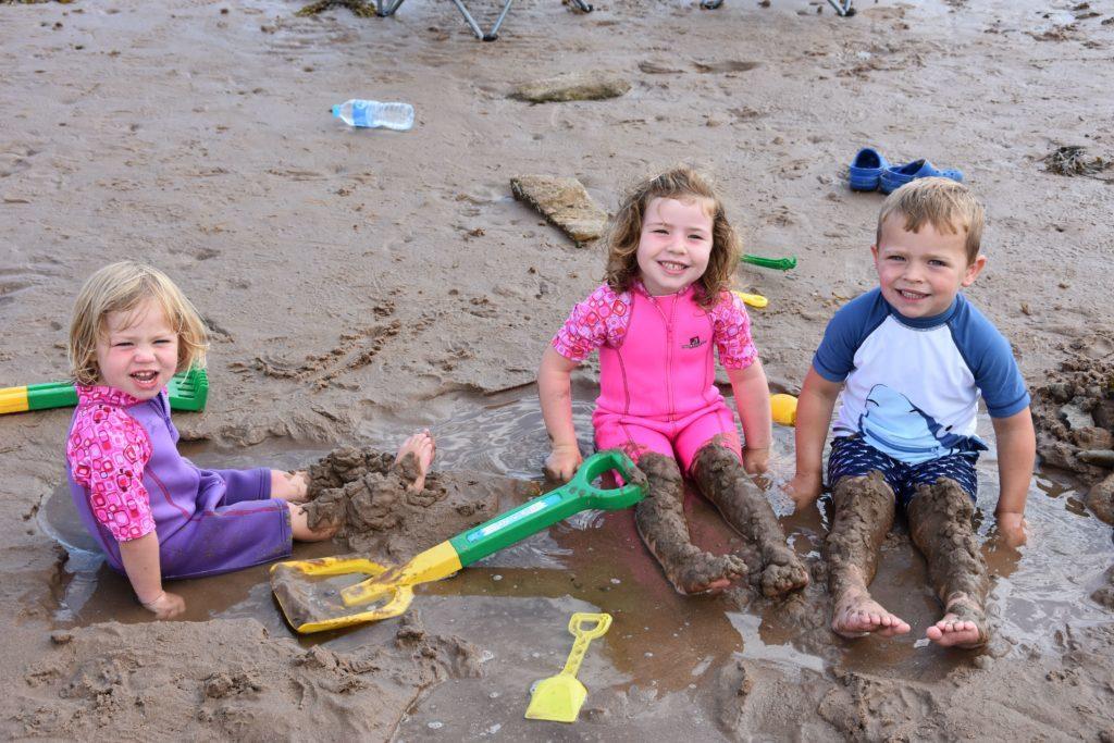 Sand sculptures create an outdoor art gallery