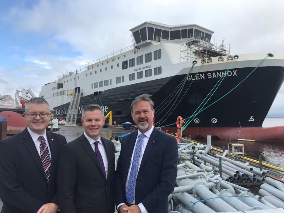 Arran still faces two year wait for new ferry