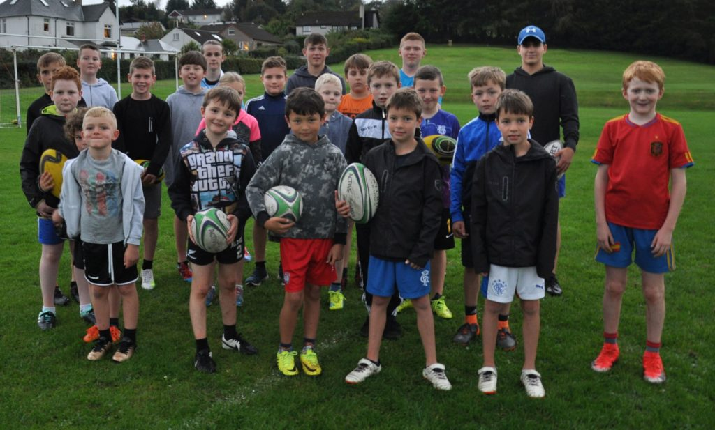 Youngsters are put though their paces at junior rugby