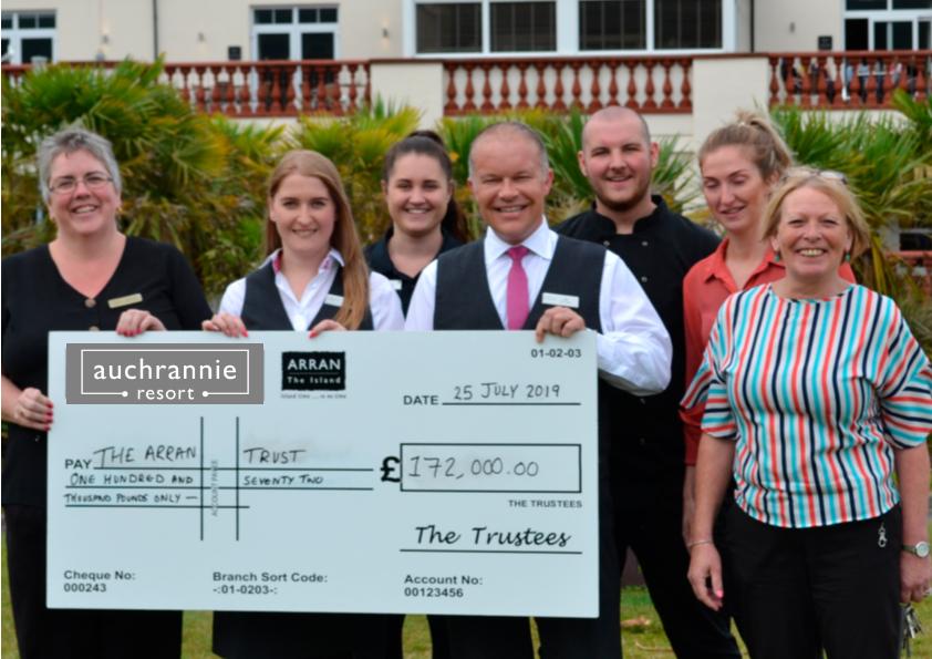 Generous guests donate £172,000 to Arran Trust