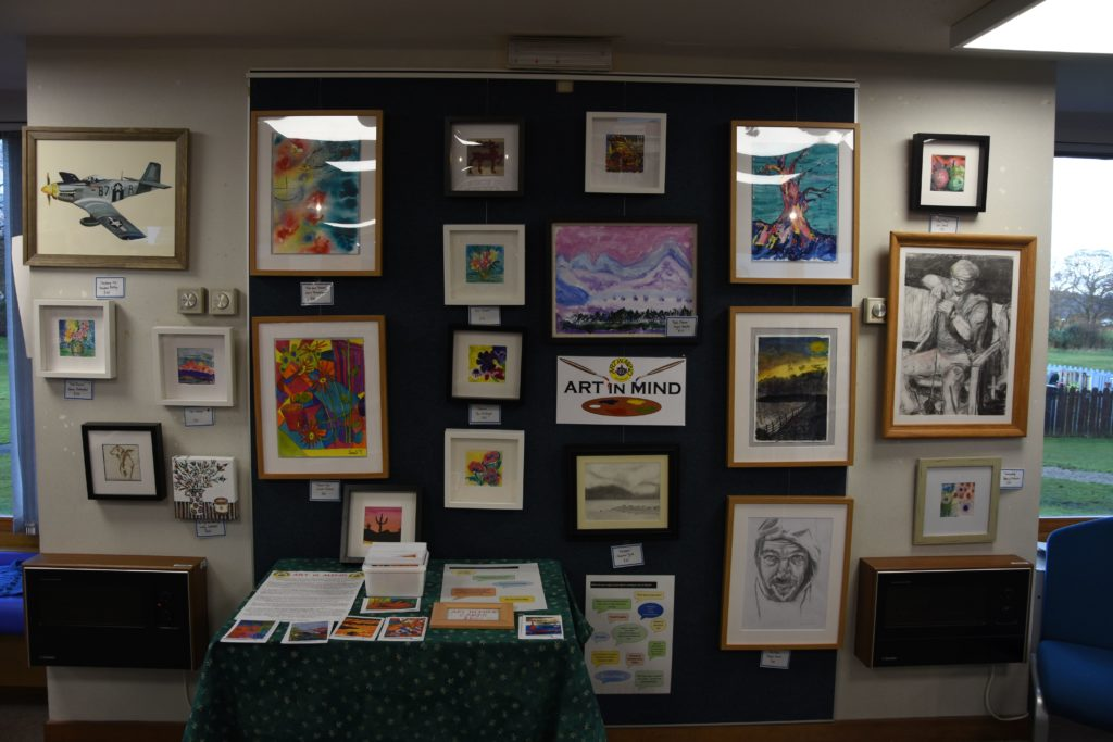 Art in Mind exhibition at Arran Library