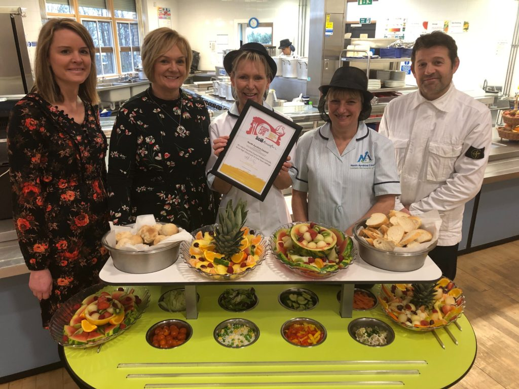 Local produce sees school dinners retain gold award
