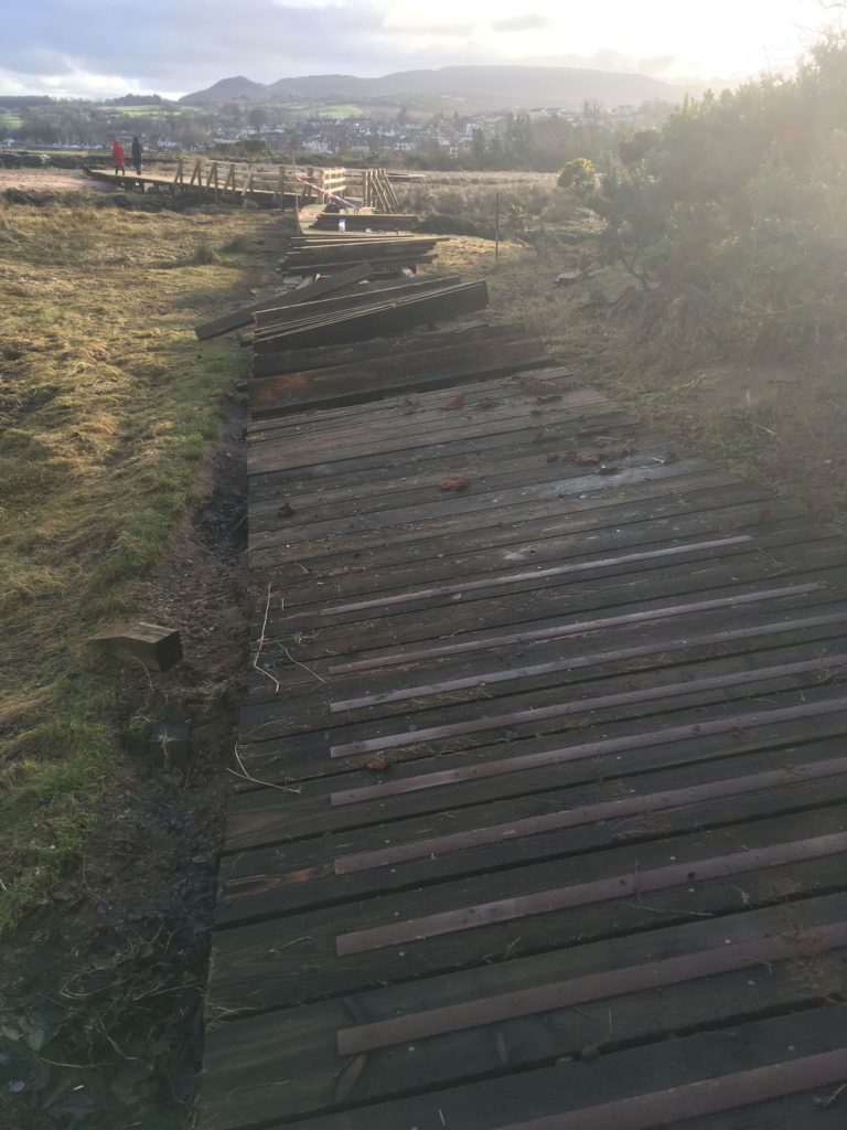 New work at Fisherman's Walk damaged by storms